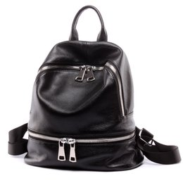 Сумки для девочек для ноутбука онлайн-DANJUE Fashion Women's Shoulder Bag Genuine Leather Backpack College  Laptop Backpack Female School Bags For Teenage Girls