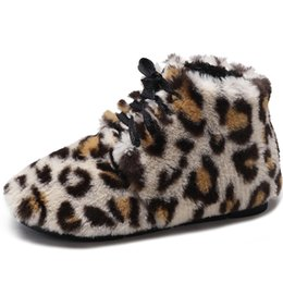 Bottes de neige Bottes d'hiver femmes fourrure léopard chaussures en peluche chaussures femme cheville femmes daim chaussures de sport chaussures plates ? partir de fabricateur