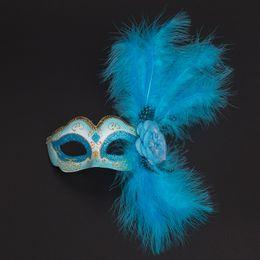 Plumas de la mascarilla completa online-Máscara de gato Máscara Fiesta festiva Maquillaje Máscara Baile al aire libre Full Face Face Máscara antiquísima