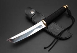 2019 samurai messer Samurai Ninja 4,8 Zoll gerade feststehende Klinge Messer taktische Selbstverteidigung edc Sammlung Jagdmesser Weihnachtsgeschenk a1474 rabatt samurai messer