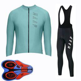 2020 maap jersey de ciclismo MAAP team Ciclismo manga larga jersey pantalón conjuntos Nuevos hombres Verano Ropa rápida y seca Maillot Mountain Bike U82813 rebajas maap jersey de ciclismo