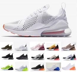 Novedades 2019 Nike Air Max 270 Running 27c Hombres Mujeres Zapatos Flair Triple Negro Blanco para hombre Zapatillas de deporte de moda zapatos al aire libre tamaño 36-45 desde fabricantes