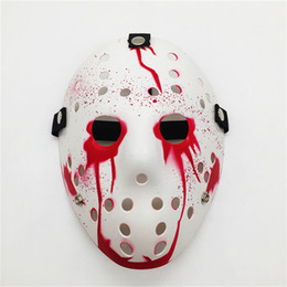 2020 jason horror-hockey-maske Halloween-Party-CosPlay Maske Jason Voorhees Maske Freitag der 13. Halloween Myers Jason VS. Freddy-Kostüm-Stütze Horror Hockey-Maske günstig jason horror-hockey-maske