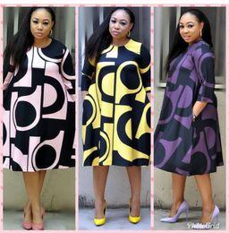 2019 fotos de mulheres sexy Super tamanho Novo estilo de roupa mulheres Africano Dashiki moda Imprimir vestido de pano de tamanho L XL XXL 3XL