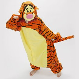 Adulto Polar Teddy Cosplay Traje Tigger Dos Desenhos Animados Onesie Pijama Solto Halloween Carnaval Masquerade Partido Macacão Anime Outfit de