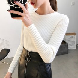5d457634c35a sexy women tight sweaters 2019 - 2019 spring autumn Women lady sweater  elastic Solid sweater women