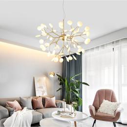 Люминесцентные лампы онлайн-Современные светлячки светодиодные люстры свет стильная ветка дерева люстра лампа декоративные светлячки потолочные люстры подвесные светильники