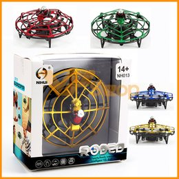 Argentina Gesto inteligente inducción del UFO del mini Quadcopter detección inteligente aviones del vuelo del juguete del helicóptero RC aviones no tripulados para los regalos de los niños para niños Suministro