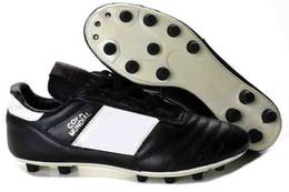 zapatos blancos de fútbol al aire libre Rebajas 2018 zapatos de cuero de la mejor calidad baja de fútbol Copa 17,1 FG Botas de fútbol para hombre exterior Copa Mundial de Fútbol Tacos de oro blanco Champagne Negro
