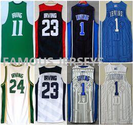 ff2cb6e8fad Hot sale St. Patrick school  24 player Duke basketball jerseys  1 Kyrie  Irving all stitched basketball game uniform usa  23 dream team