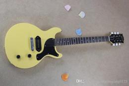 Oem oro solido online-colore giallo solido solido Chitarra elettrica con hardware oro Modello G-lp chitarra OEM + spedizione gratuita