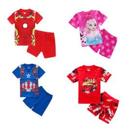 Kinder kurzarm pyjama online-Lässige Boy Family Service Baumwolle Kinder Kurzarm Pyjama Set
