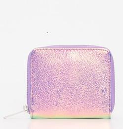 Raccoglitore dentellare di disegno di modo online-Luminoso New Fashion Zippered Elegante Handy Portafoglio di alta qualità Styled Fashion Design speciale Colore rosa Portafoglio scintillante cool