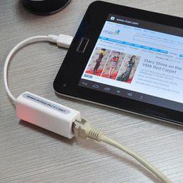2019 rj45 della rete da tavoletta Nuovo caldo Micro USB 2.0 5P per reti LAN RJ45 Ethernet Adapter Cable Converter per Tablet PC rj45 della rete da tavoletta economici