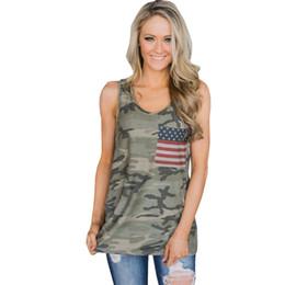 Xl mode camo kleidung online-Art- und Weisefrauen-Flaggen-Druck-T-Shirts Camo-Behälter-Stern-Frauenkleid-Unterseite übersteigt Sommer 2019
