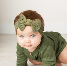 Pelo moda chico caliente online-Ins Hot Fashion Bowknot Diadema Soft Nylon Headwear Bebé Niños Accesorios para el cabello Infant Girl Boy Headwrap T322