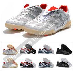 Homens, indoor, futebol, sapatos on-line-Classics Predator Acelerador de Precisão Eletricidade TF IC TR Turf Indoor David Beckham Homens Sapatos de Futebol Chuteiras Botas de Futebol Tamanho 39-45