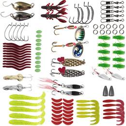 Señuelos de la carpa online-2019 Fishing Lure 105Pcs Juego de cebo multifuncional con lentejuelas Minnow Bait Carp Fish Spinners para cebo marino
