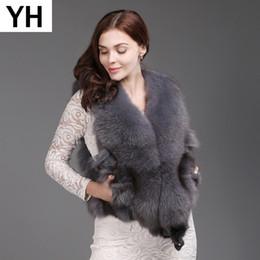 fox skinning Desconto 2019 Venda Quente Curto Pele Cheia de Pele De Raposa Colete Mulheres Moda Inverno Quente Real Real Fox Fur Gilet Real Casacos Sem Mangas