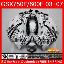 Katana fairing kit schwarz online-Bodykit Für SUZUKI KATANA Scorpion schwarz GSXF600 GSXF750 03 04 05 06 07 3HC.7 GSX750F GSX600F GSXF 750 600 2003 2004 2005 2006 Verkleidung