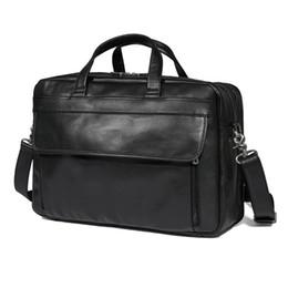 17 bolsas de ordenador portátil para hombres online-J.M.D Real Leather Briefcases - Bolsa de ordenador portátil de cuero, 17 pulgadas, para hombres # 222158