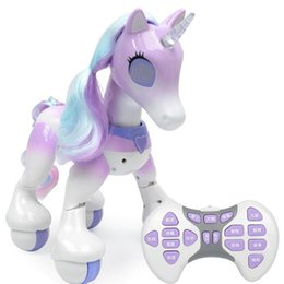 Coche de Control remoto Para Unicornio Unicornio Eléctrico Nuevo Robot de Inducción Táctil Electrónica Mascota Educativa Juguete Licorne Q190522 desde fabricantes