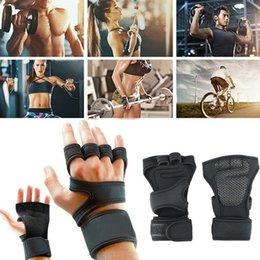 2019 спортивные перчатки девушки 2019 Новый мужской неопрена Спорт Фитнес Велоспорт Gym Половина Finger перчатки Упражнение Тяжелая атлетика Обучение тренировки наручные перчатки