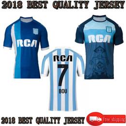 TOP 2018 2019 Racing Club de Avellaneda Camisetas de fútbol 18 19 Racing  Local Visitante 2 °   7 BOU   8 FERNANDEZ   10 CENTURION Uniforme de fútbol c1e0293f1e6c9