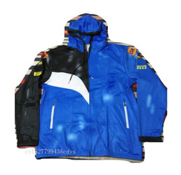 giacca blu motocross Sconti Nero con Blue Sport Motocross Soft Feel Panno Casual Jacket Zipper felpate del rivestimento Tuta Mens Outerwear