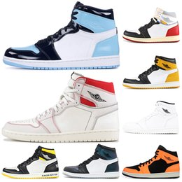 low priced 834a5 67e20 nike air jordan retro shoes neue Ankunft 1 Top Banned Bred Toe Chicago OG  1s Spiel Royal Blue Herren Basketball Schuhe Turnschuhe Shattered Backboard  Sport ...