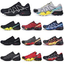 Scarpe da trekking per scarpe da ginnastica online-Salomon Speedcross 4s CS Zapatos para correr Hombres Speed cross zapatillas de deporte para hombre al aire libre Zapatillas deportivas deportivas impermeables para correr