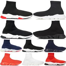 Designer de luxe chaussettes chaussures mode hommes femmes baskets vitesse formateur noir blanc bleu rouge glitter mens coureur formateurs chaussures de sport 36-45 ? partir de fabricateur