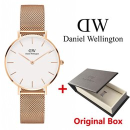 watch girls strip Coupons - New Fashion Girls Steel Strip Daniel Watches 32mm Women Watches 40mm Men Watches Quartz Watch Feminino Montre Femme Relogio Wristwatches
