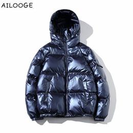 Outwear homem coreano on-line-2018 Homens Jaqueta Casacos Engrosse Inverno Quente Masculino Parka Com Capuz Outwear Jaqueta De Algodão-acolchoado coreano moda homem roupas 5XL