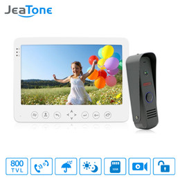 Sistemas de entrada de porta do intercomunicador on-line-JeaTone Best Intercom Sistemas Mais Acessível Preço Residencial Comercial Home Security Vídeo Porteiro Kit Sistema de Entrada de Porta