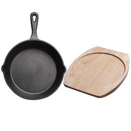 2019 runde spitzen-tischsets Gusseisen Pfanne Pfanne Bratpfanne Gusseisen Topf Beste Heavy Duty Professional erfahrenes Kochgeschirr zum Braten Braten Kochen