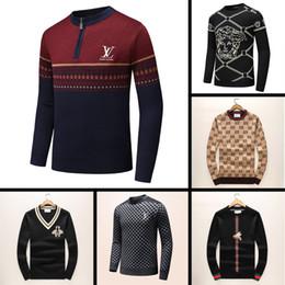 2019 neue neueste designer herbst winter herren pullover klassische mode pullover männer marke rundhalsausschnitt kleidung hohe qualität mit 5 größe ein von Fabrikanten