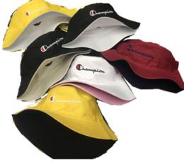 eimer männer Rabatt Champions Designer Hüte Caps Männer Eimer Hut Modemarke Unisex doppelseitige Stickerei Sonnenhut Sommer Outdoor vielseitige Hüte 56-60 cm C61301