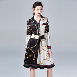 красивые длинные платья женщины Скидка Платья с принтом 2019 Fashion New Lady, платье-миди для похудения с хорошей повязкой и талией, длинный рукав, женское платье