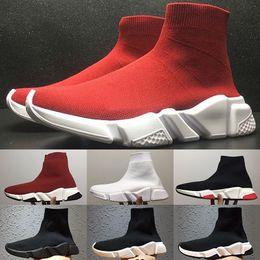 Zapatillas deportivas más vendidas online-Nuevos zapatos de lujo Paris Sock Zapatos Speed Trainer Running para hombres Mujeres Zapatos casuales de alta calidad Zapatillas de deporte con mejores ventas Tamaño 36-45