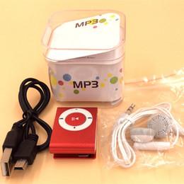 Canada Mini Clip MP3 Player Prix Usine Venez avec Crystal Box Écouteurs Câble USB Support Carte TF Carte Micor SD Offre