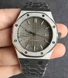 gris quartz Promotion Vente chaude de luxe Hommes Montre Automatique Mécanique mouvement gris cadran série ROYAL OAK série mens montres 15400 en acier inoxydable mens montres