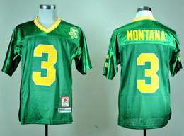 Maillots de football Monkey Fighting Irish de la NCAA college # 3 Maillot Joe Monata 30e anniversaire Green MEN WOMEN YOUTH enfants maillot de football ? partir de fabricateur