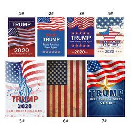 jardinagem jardim Desconto 2020 Donald Trump Amercia Bandeira para o Presidente Fazer América Grande Novamente Jardim Bandeira 30 * 45 cm Personalidade Decoração Bandeiras Bandeira DBC VT0393