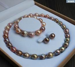 2019 enorme collar de perlas barrocas del mar del sur Gran collar de perlas de 13-15 mm del mar del sur, color barroco multicolor. rebajas enorme collar de perlas barrocas del mar del sur