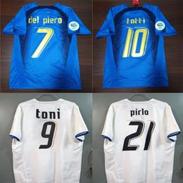 2019 camisa totti 2006 Italia Gattuso Retro Soccer Jersey Cannavaro Francesco 06 Italia Totti Del Piero Nesta Inzaghi Pirlo Materazzi Toni Camiseta de fútbol rebajas camisa totti