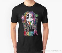 Prezzo artwork online-T Shirt Prezzo più basso 100% Cotone Corto 6Ix9Ine Grafica Mens Magliette
