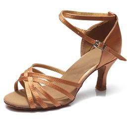 Venda quente Mulheres Sapatos de Dança Profissional Sapatos de Dança de Salão Senhoras Sapatos de Dança Latina de salto 5 cm / 7 cm de