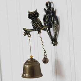 индикатор разряженной батареи Скидка Ретро-ностальгические животные, дверные звонки металлических колокольчики, ветряные колокольчики, настенные украшения, лошадь слон сова