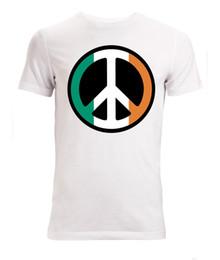 ирландские таблички Скидка Ирландский флаг знак мира произведения искусства мужские (женщины доступны) Майка Белый смешно бесплатная доставка мужская повседневная футболка топ